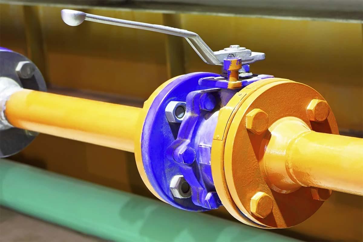 Газовые трубы с задвижкой