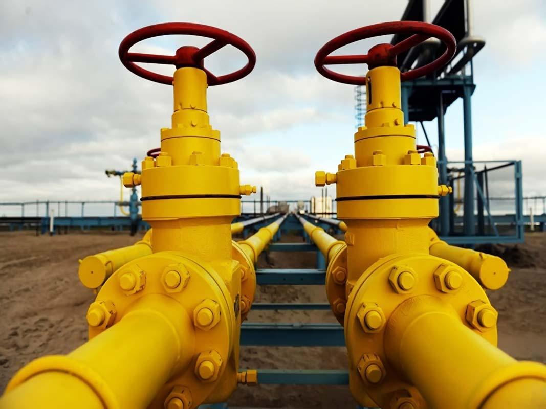 Задвижки газовые желтые